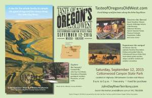 Taste of Oregon's Old West poster